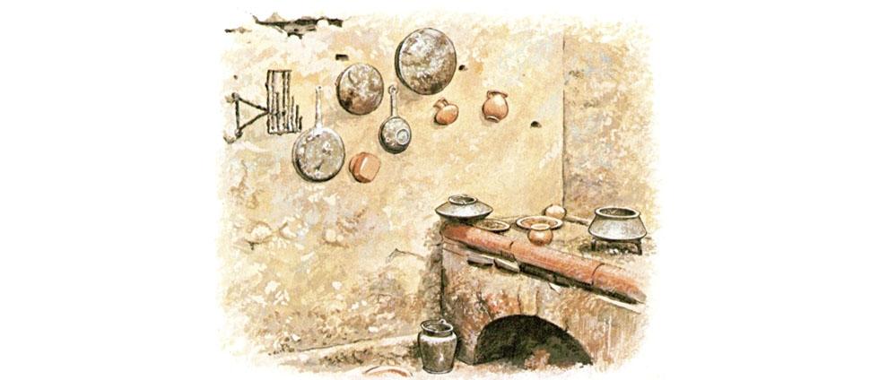 Domus pompeiana una combinazione tra l 39 antica domus for Cucina romana antica